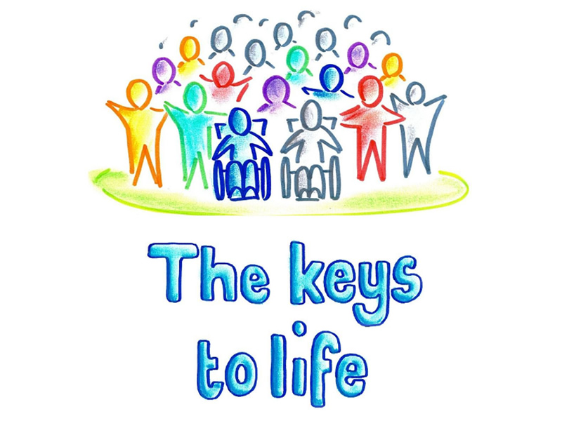 The keys to life logo